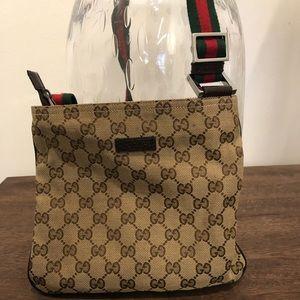 Original Gucci GG Canvas Messenger Bag